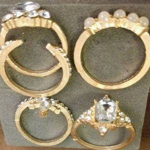 5 Knuckle Rings Set